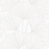 Boråstapeter Ginkgo White Wallpaper - Product code: 7264