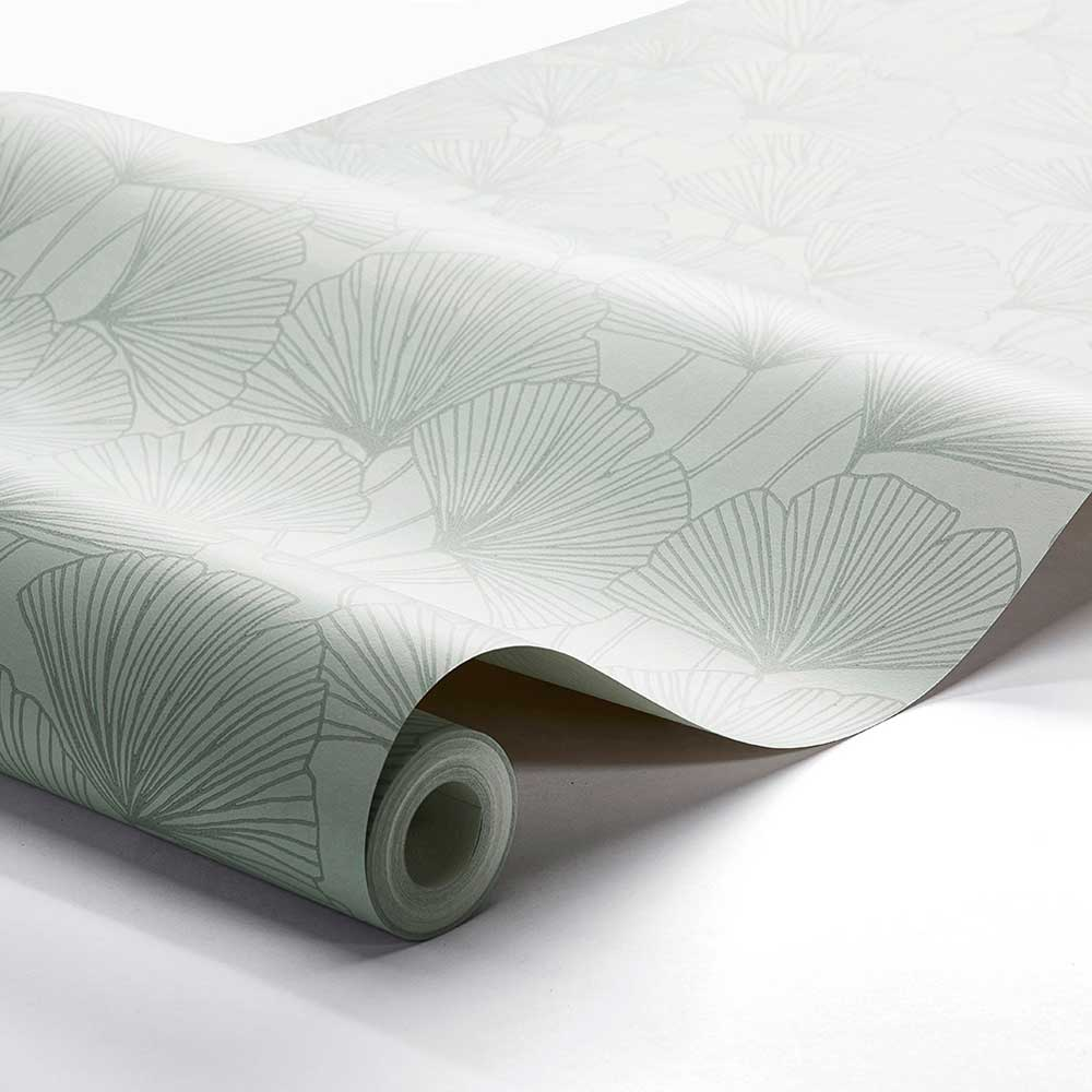 Boråstapeter Ginkgo Jade Green Wallpaper - Product code: 7265