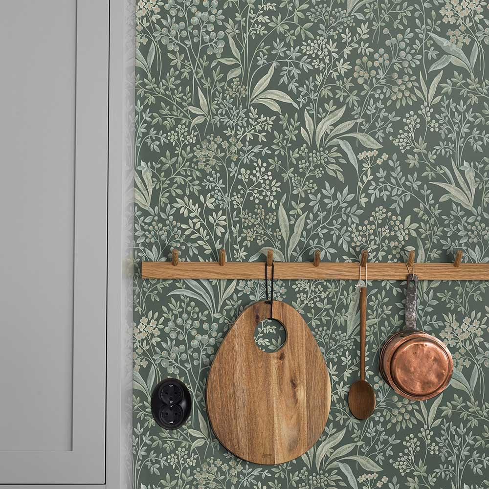 Boråstapeter Nocturne Jade Green Wallpaper - Product code: 7270