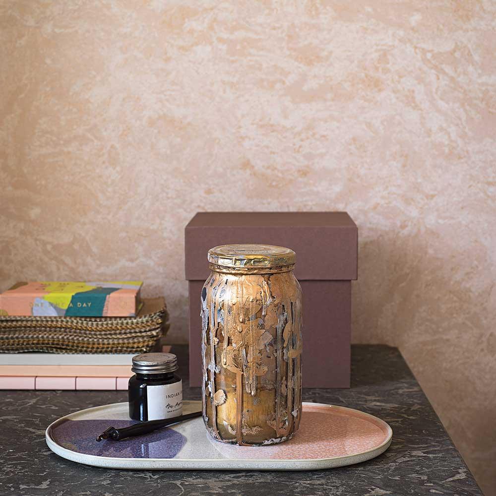 Golden Marble Wallpaper - Pink - by Boråstapeter
