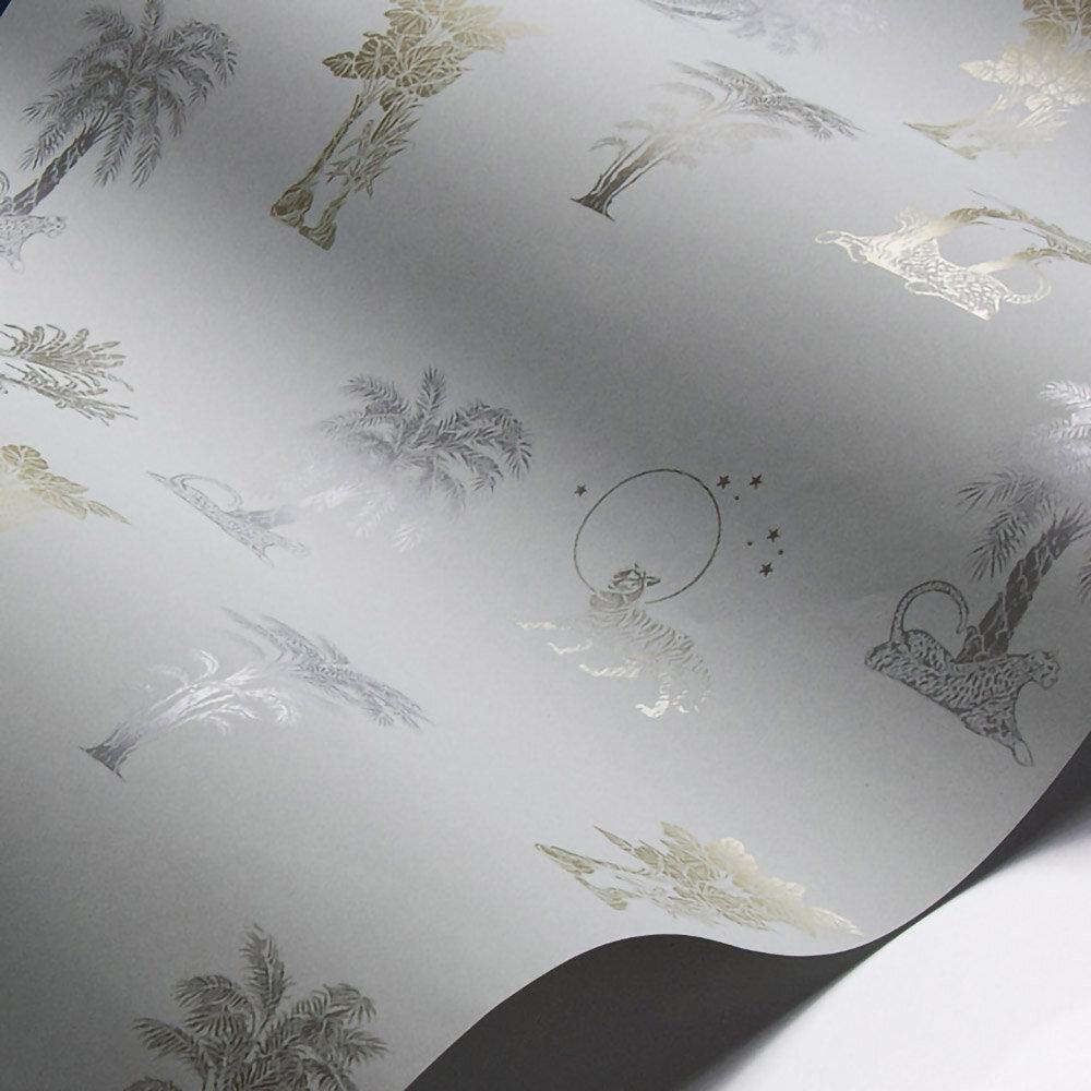 Laurence Llewelyn-Bowen Topical Tropical Grey / Metallics Wallpaper - Product code: LLB6034