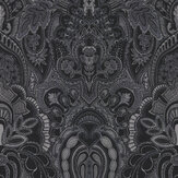 Laurence Llewelyn-Bowen Damask Dangereuse Silver / Black Wallpaper - Product code: LLB6028
