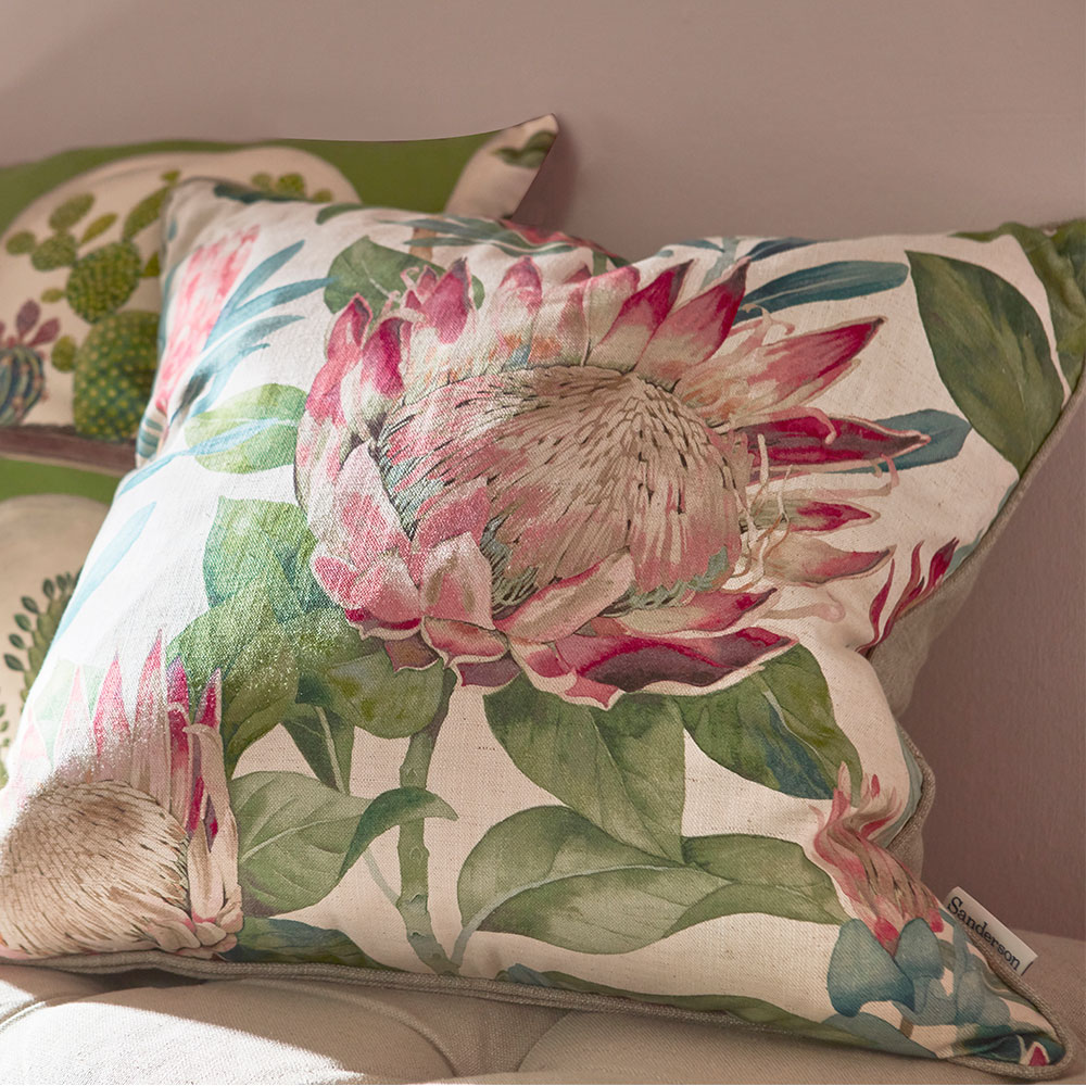 Sanderson King Protea Cushion  Rhodera - Product code: DGLA257145C