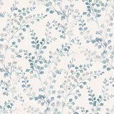 Boråstapeter Leaf Silhouette Blue Wallpaper - Product code: 7289