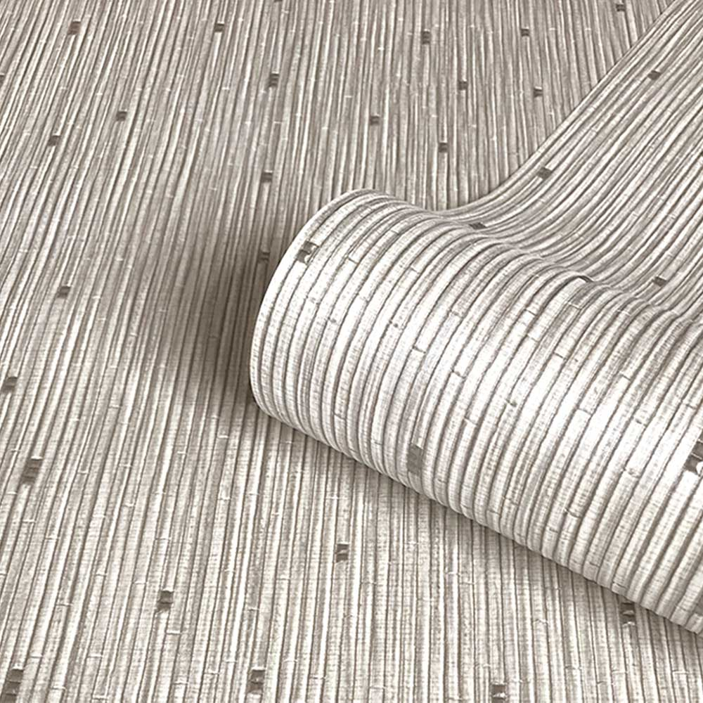 Aurora Plain Wallpaper - Silver - by Albany