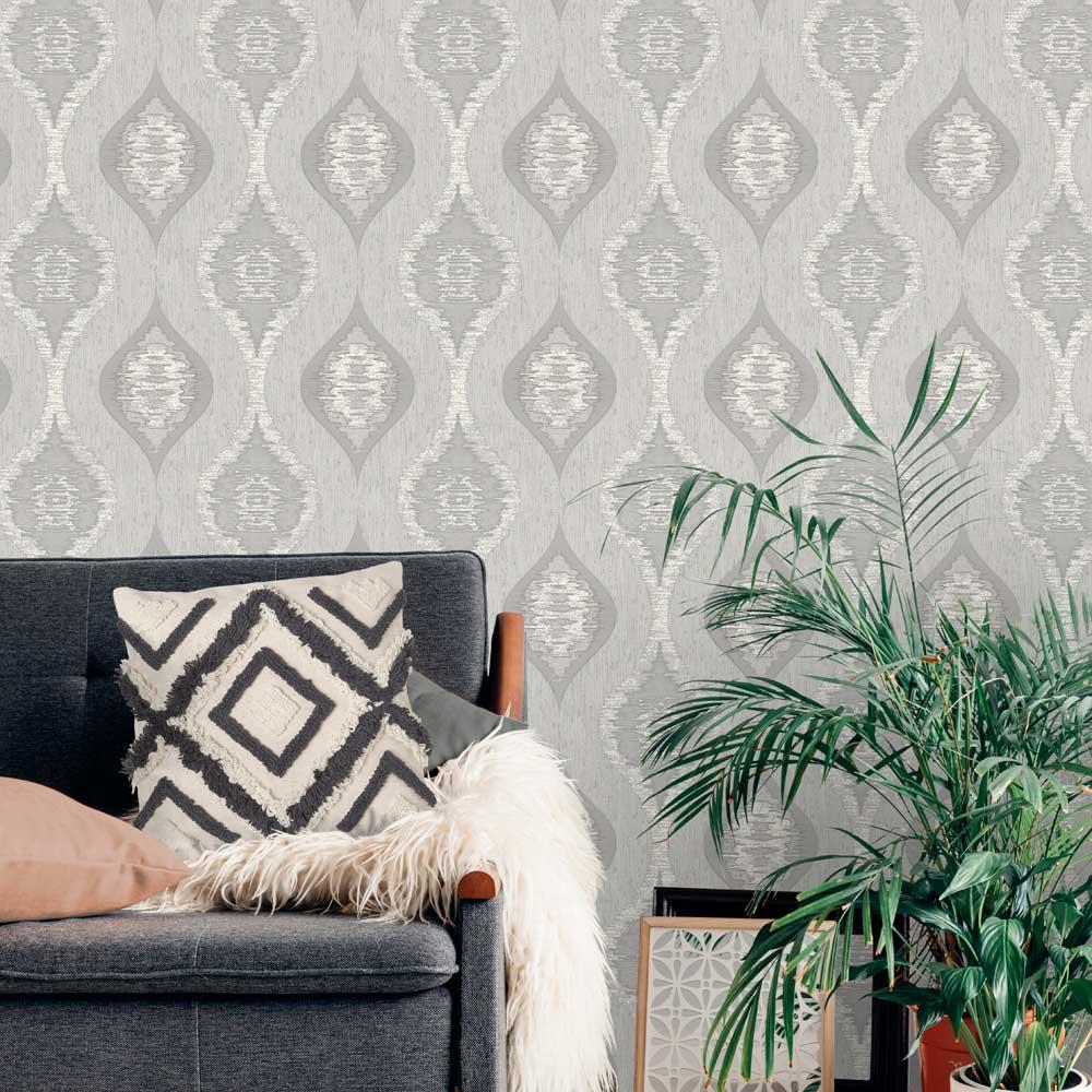 Albany San Marino Silver Wallpaper - Product code: 3715