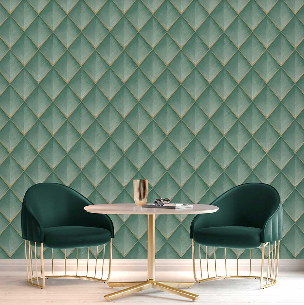 Albany Callisto Teal Wallpaper - Product code: 6001