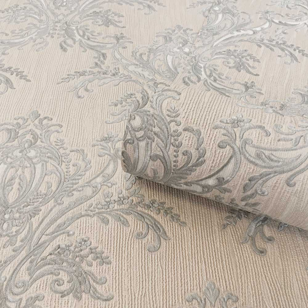 Albany Sofia Damask Silver Wallpaper - Product code: 6342