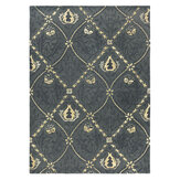 Morris Pure Trellis Rug Black Ink  - Product code: 29105/ 257119