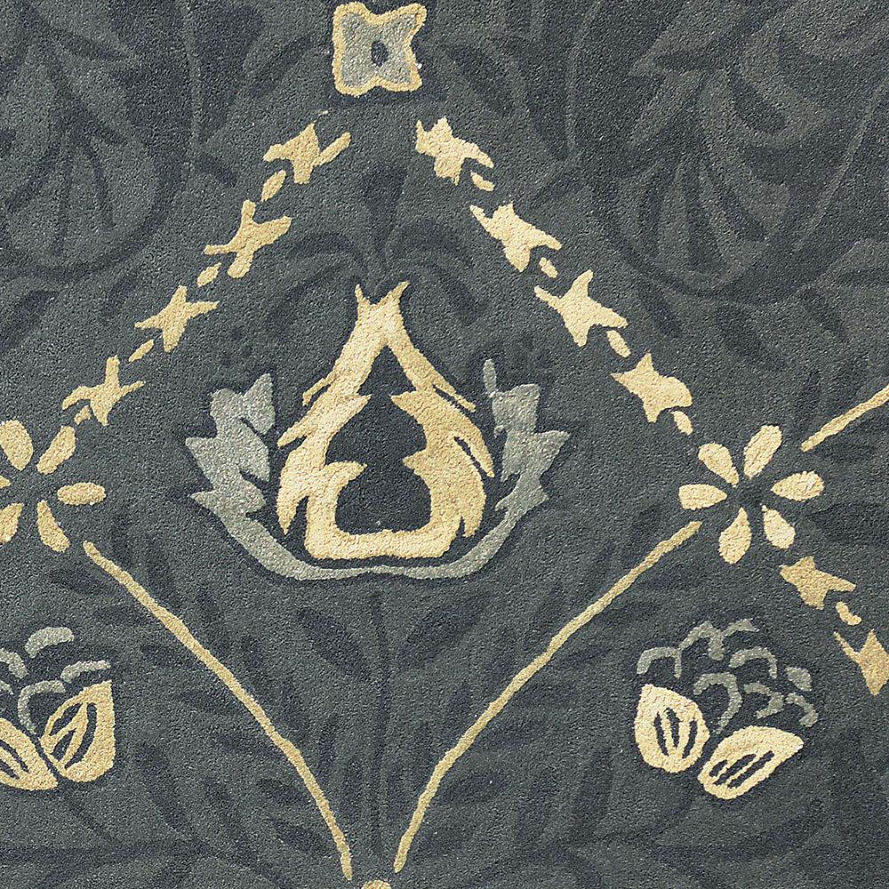 Morris Pure Trellis Rug Black Ink  - Product code: 29105/ 257119