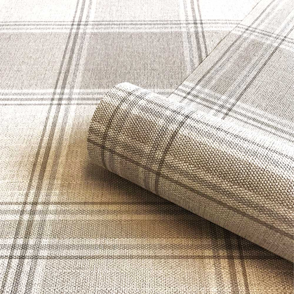 Giorgio Check Wallpaper - Beige - by Albany
