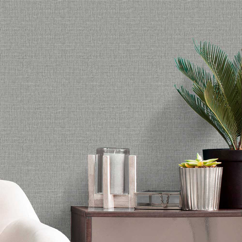 Giorgio Texture Wallpaper - Silver - by Albany