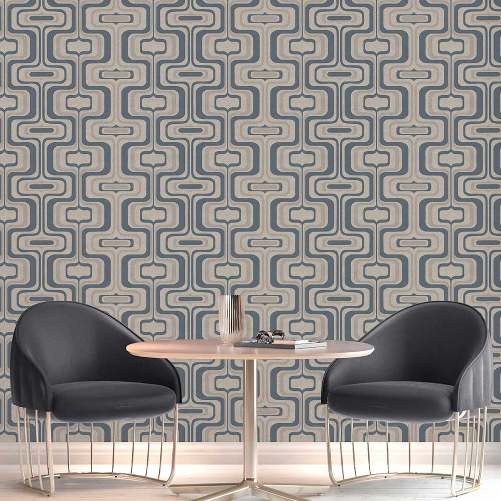 Albany San Remo Navy Wallpaper - Product code: 6519