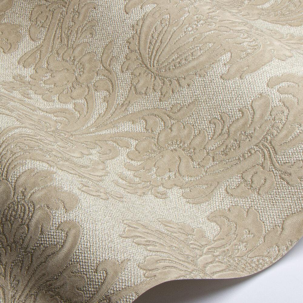 San Remo Damask Wallpaper - Gold - by Albany
