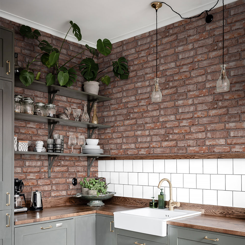 Boråstapeter Original Brick Red Brick Wallpaper - Product code: 1160