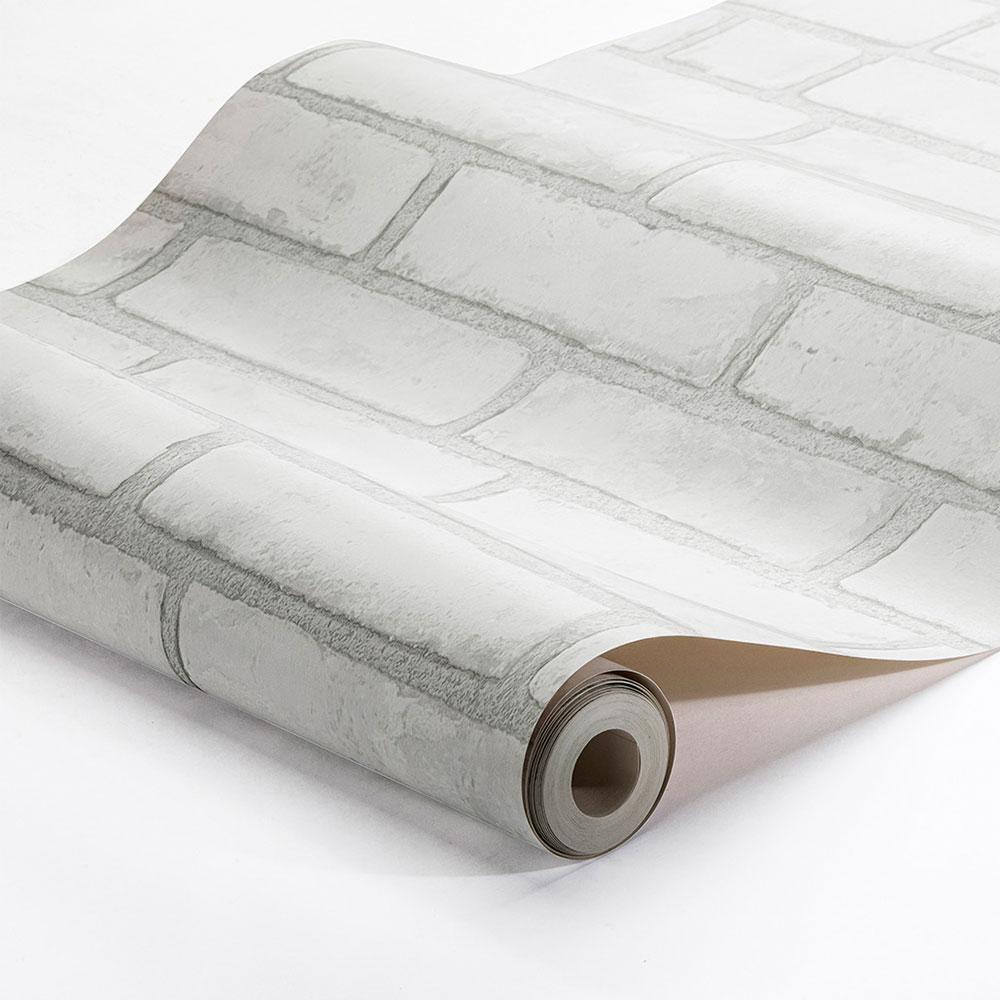 Boråstapeter Original Brick White Wallpaper - Product code: 1161