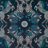 Emma J Shipley Caspian Navy Wallpaper - Product code: W0113/05