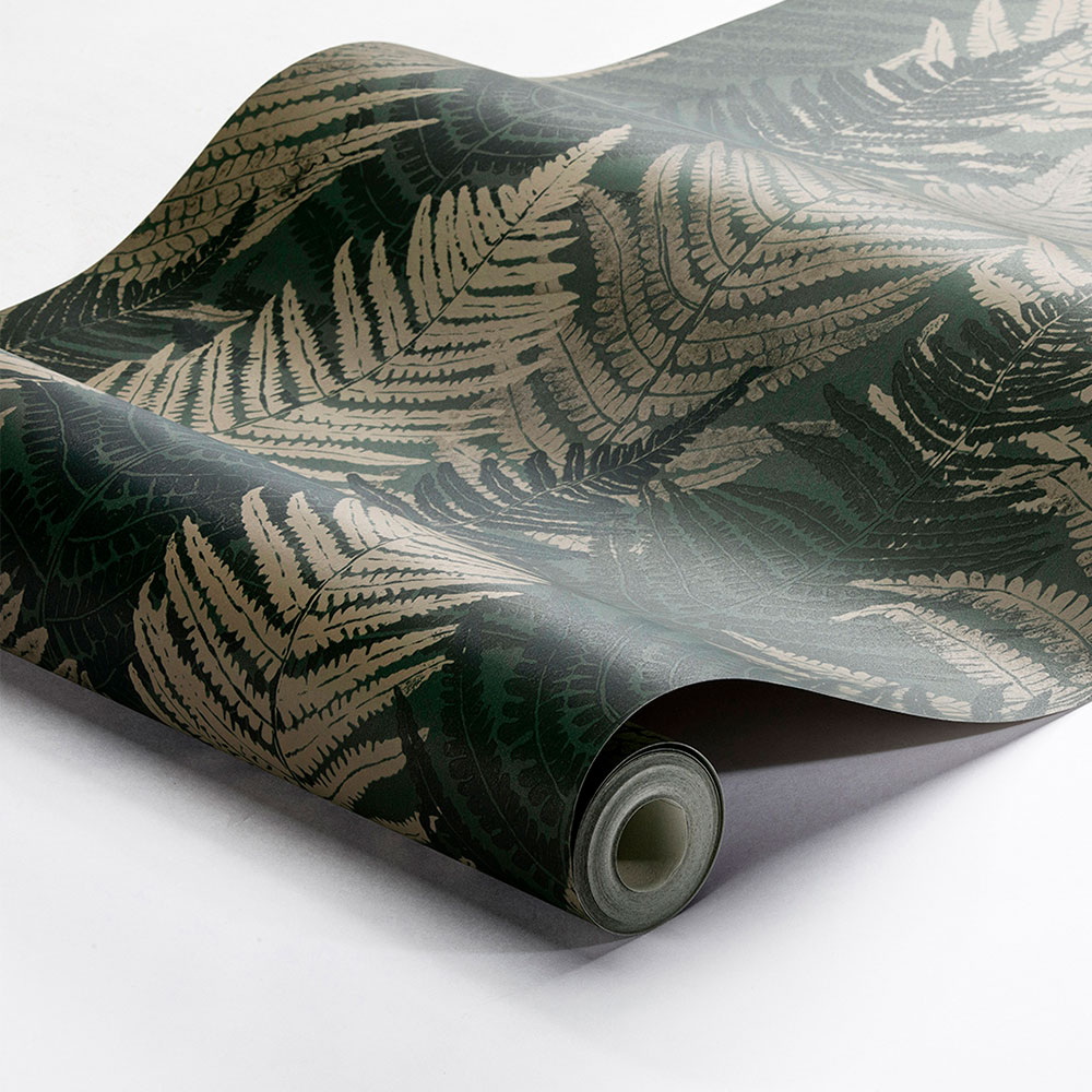 Boråstapeter Fern Forest Dark Green and Beige Wallpaper - Product code: 1164