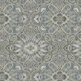 Boråstapeter Rustic Ornament Blue-Green Wallpaper - Product code: 1166