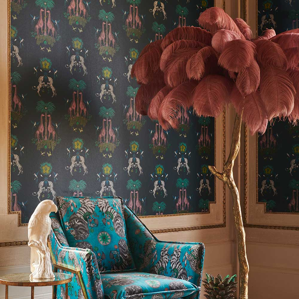 Emma J Shipley Creatura Teal Wallpaper - Product code: W0114/03
