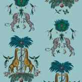 Emma J Shipley Creatura Turquoise Wallpaper - Product code: W0114/04