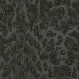 Clarke & Clarke Felis Charcoal / Rose Gold Wallpaper - Product code: W0115/03