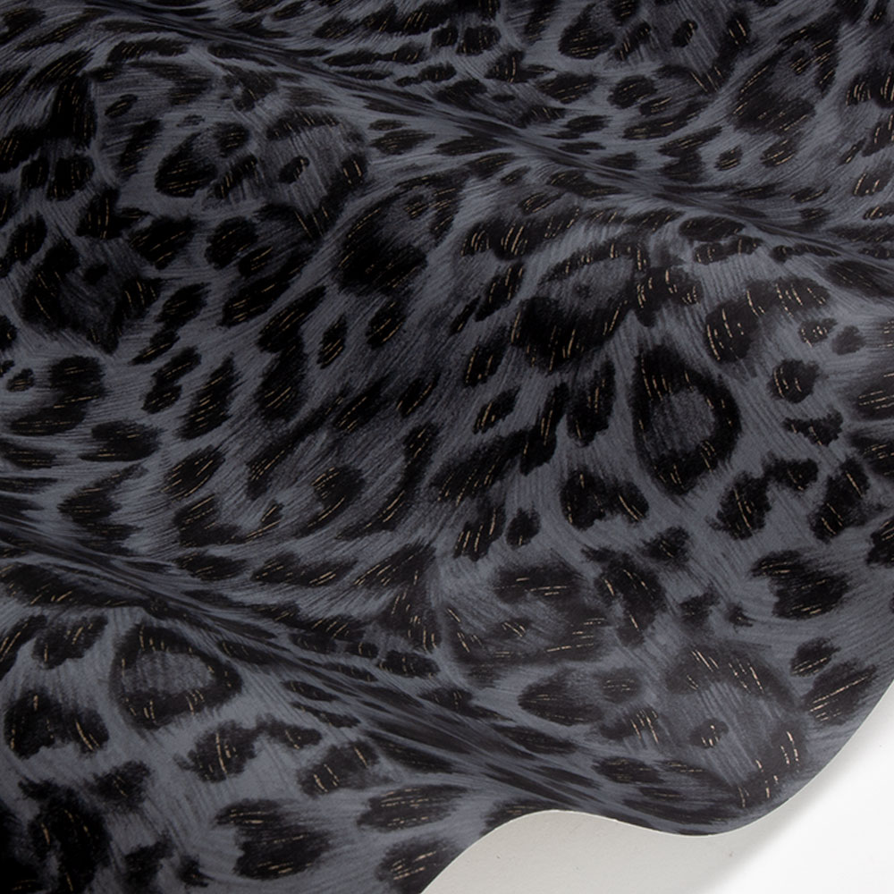 Felis Wallpaper - Charcoal / Rose Gold - by Emma J Shipley