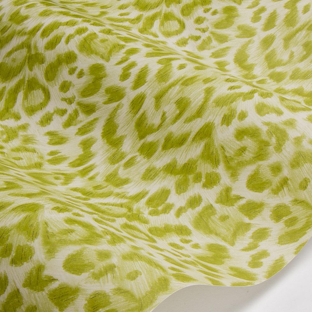 Felis Wallpaper - Green - by Emma J Shipley