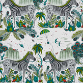 Clarke & Clarke Lost World Green Wallpaper - Product code: W0117/02