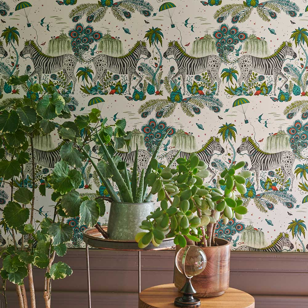 Emma J Shipley Lost World Green Wallpaper - Product code: W0117/02