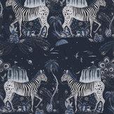 Emma J Shipley Lost World Navy Wallpaper - Product code: W0117/03
