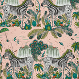 Clarke & Clarke Lost World Pink Wallpaper - Product code: W0117/04
