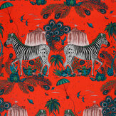 Clarke & Clarke Lost World Red Wallpaper - Product code: W0117/05