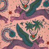 Clarke & Clarke Lynx Coral Wallpaper - Product code: W0118/01