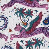 Emma J Shipley Lynx Magenta Wallpaper - Product code: W0118/03
