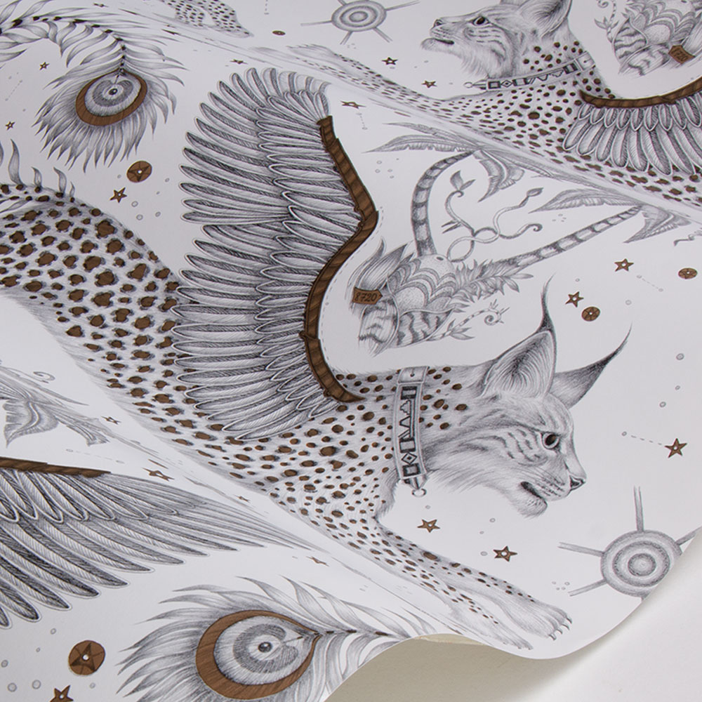 Emma J Shipley Lynx Nude Wallpaper - Product code: W0118/04