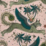 Clarke & Clarke Lynx Pink Wallpaper - Product code: W0118/05