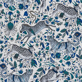 Clarke & Clarke Protea Blue Wallpaper - Product code: W0119/01