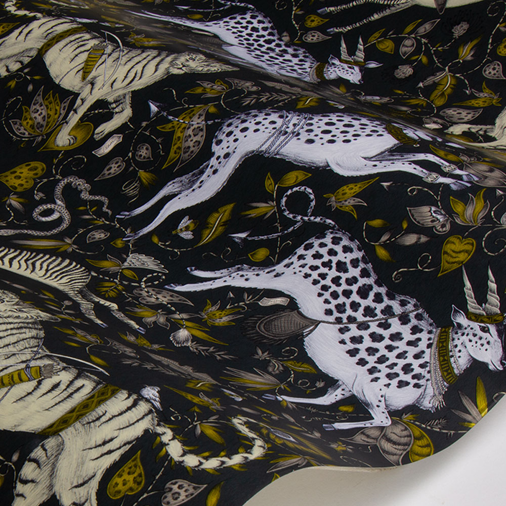 Emma J Shipley Protea Charcoal Wallpaper - Product code: W0119/02