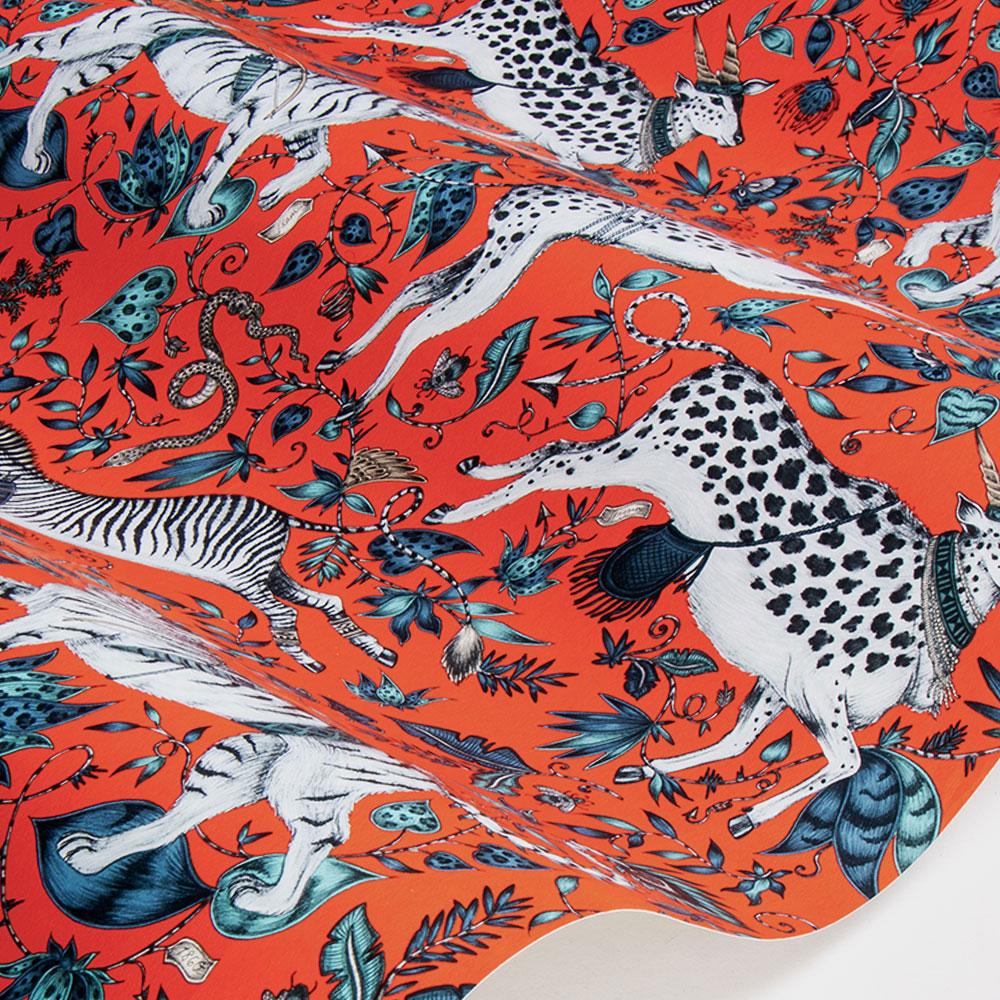 Protea Wallpaper - Coral - by Emma J Shipley