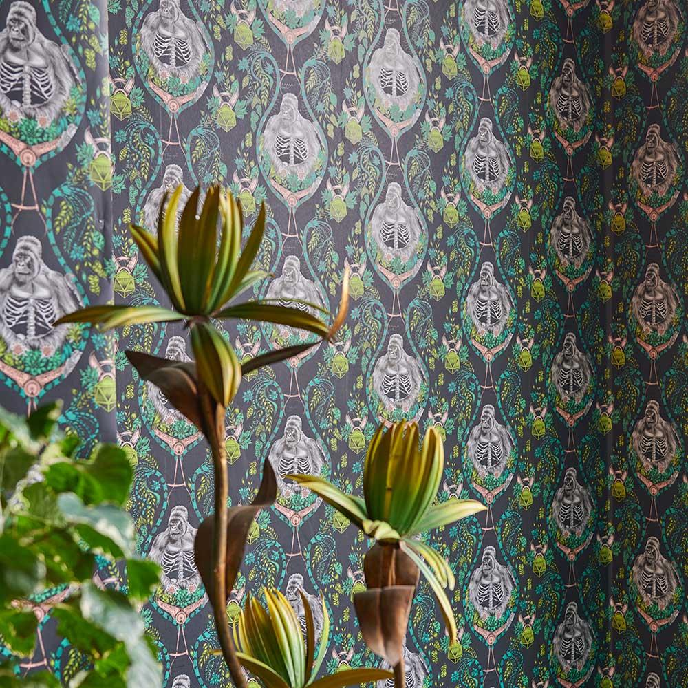 Silverback Wallpaper - Charcoal - by Emma J Shipley