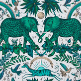 Emma J Shipley Zambesi Green Wallpaper - Product code: W0121/03