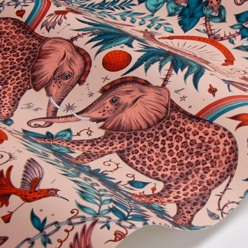 Zambezi Wallpaper - Pink - by Emma J Shipley