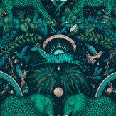 Emma J Shipley Zambesi Teal Wallpaper - Product code: W0121/06