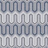 Galerie Zig Zag Blue and Grey Wallpaper - Product code: GX37611