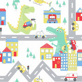 Albany Dino Road White / Multi Wallpaper - Product code: 90910