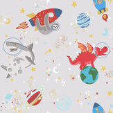 Albany Space Animals Grey Wallpaper - Product code: 90920