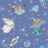 Albany Space Animals Blue Wallpaper - Product code: 90921