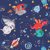 Albany Space Animals Navy Wallpaper - Product code: 90922