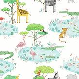 Albany Crocodile Lake White Wallpaper - Product code: 90930
